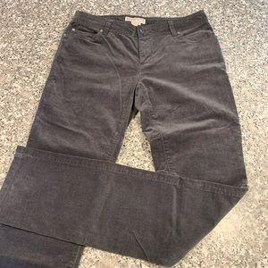 Michael Kors gray corduroy pants size 4 GUC